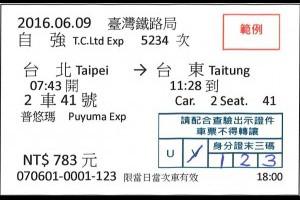 交通》端午車票台鐵局首次試辦花東列車實名制購票