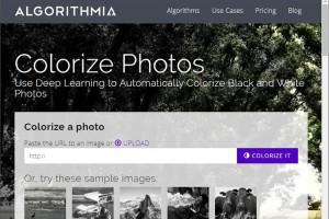 Algorithmia 利用人工智慧將黑白相片變彩色的免費線上服務