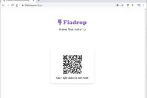 Fladrop 利用 QRCode 讓電腦與手機之間互傳檔案